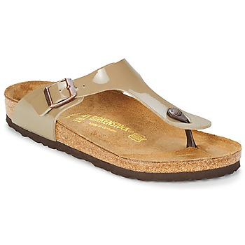 Birkenstock GIZEH vernis fossil taupe