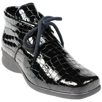 Bottine Genna Croco Noir