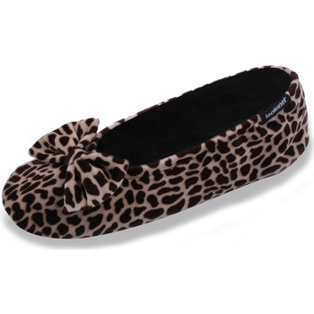 860d027905602 Chaussons FEMME Velours - grand noeud girafe Isotoner   Janel ...