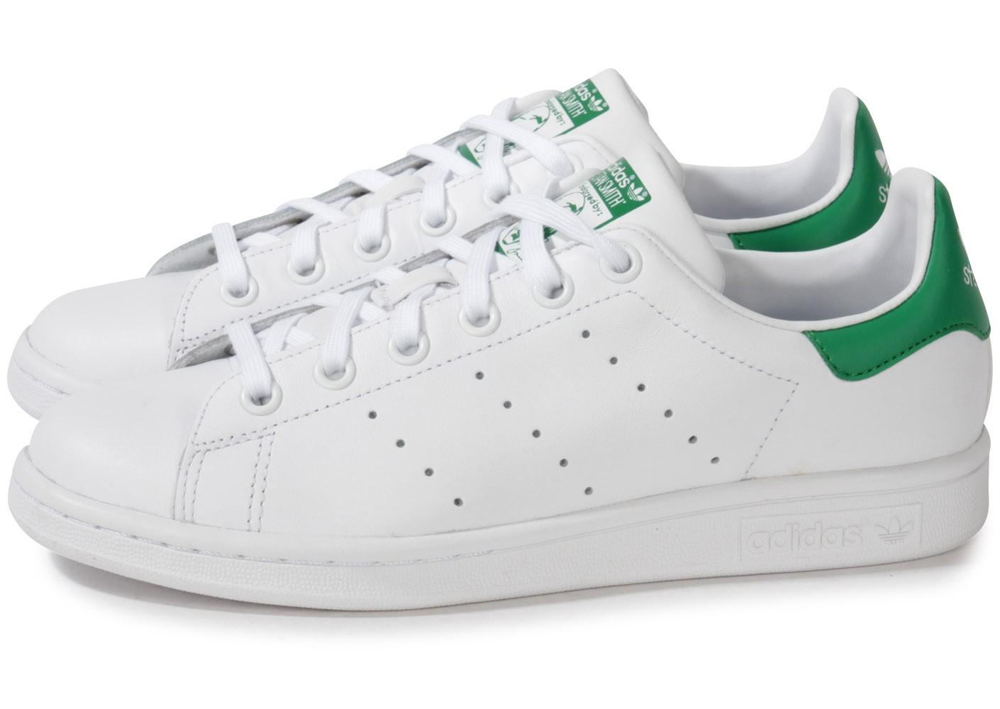 Adidas Stan Smith Lacet Vert Blanc JM 20605
