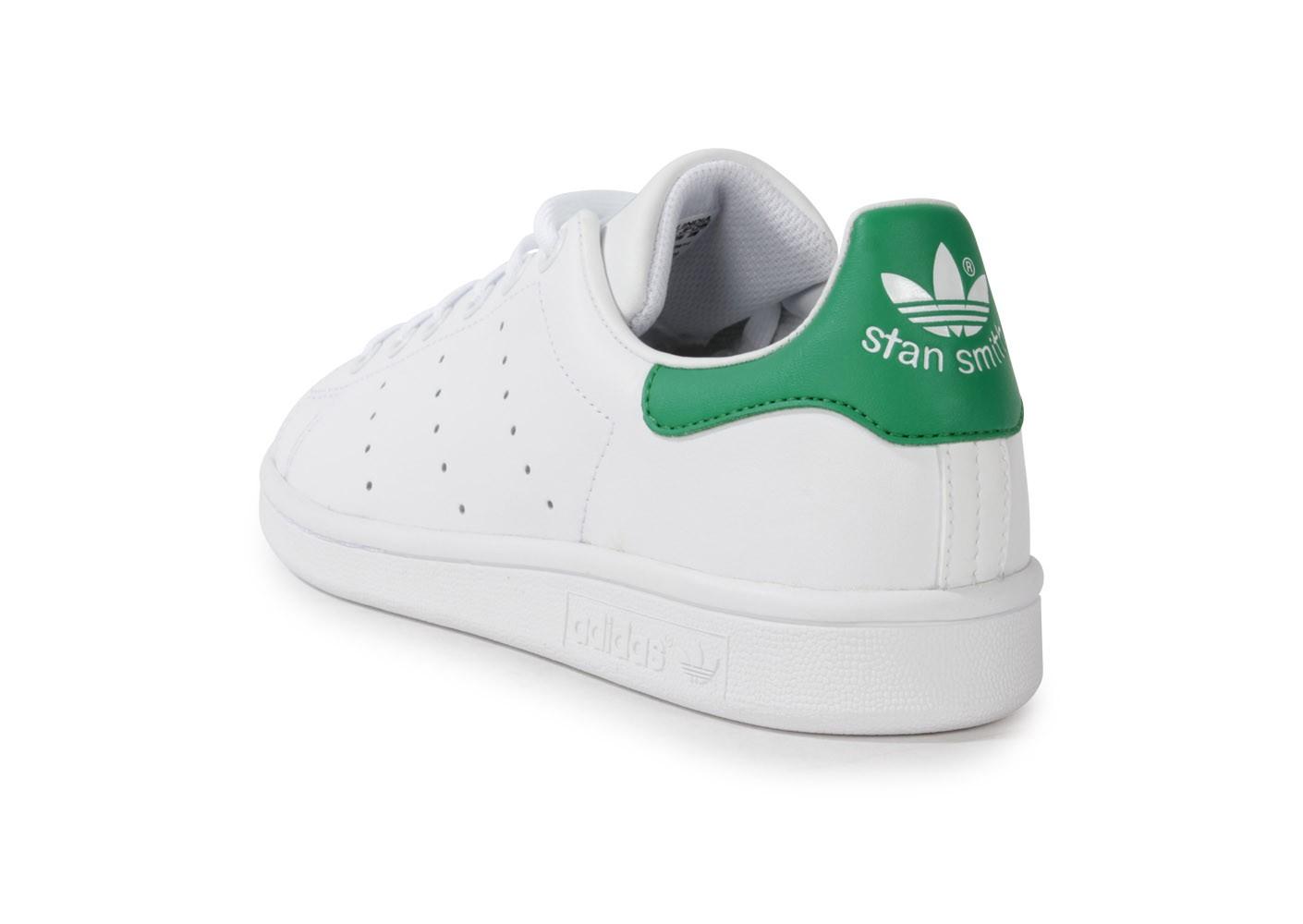 adidas stan smith blanche et verte femme